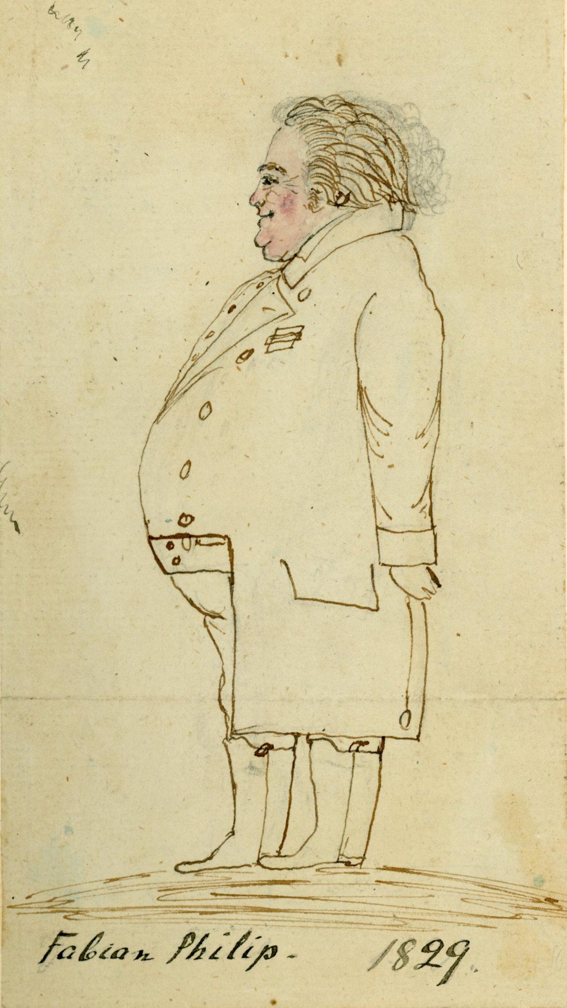 Karikatyr av Fabian Philip Blekinge Museum