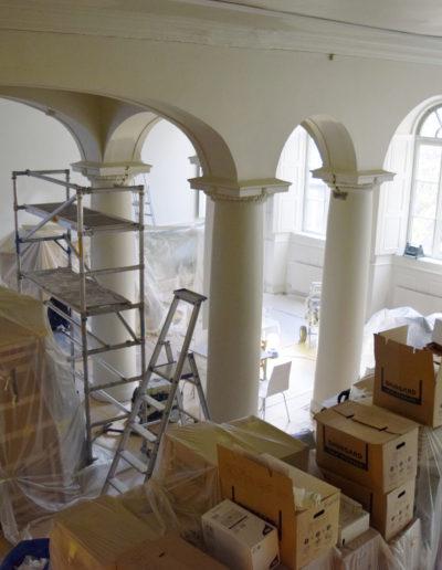 Ombyggnation. Foto: Judiska museet.