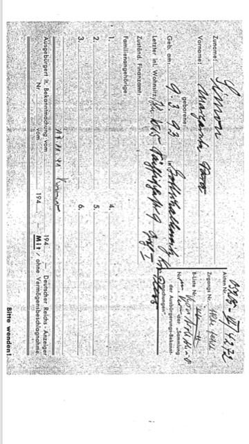 Mormors deportationskort